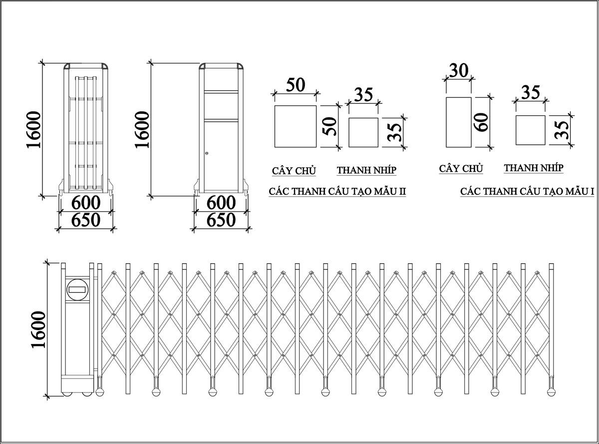 Cổng Xếp Inox MS 08 3