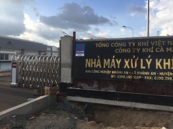 Cổng Xếp nhà máy xử lý khí Cà Mau - KCN Khánh AN