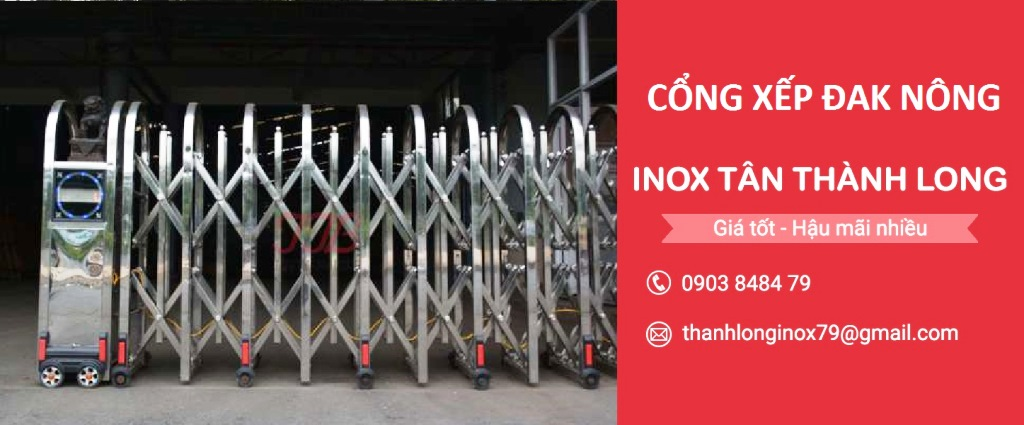 Cổng Xếp Đak Nông - Cổng Xếp Inox Tân Thành Long