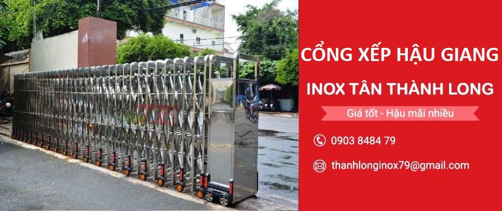 Cổng Xếp Hậu Giang - Cổng Xếp Inox Tân Thành Long